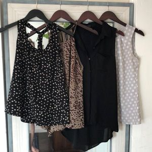 Sleeveless blouse bundle!!!